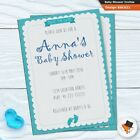 Baby shower invites Professionally made personalised invitations unisex packs