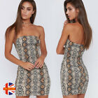 Womens Sexy Off Shoulder Summer Flowers Print Multicolor Strapless Bodycon Dress
