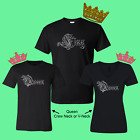 King Queen Matching Couple Love T-Shirt (PRICE IS FOR 2 SHIRTS)