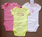 Carter's Just one you baby girl pretty bee Pink Yellow bodysuit one piece 1pc