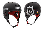 Внешний вид - S&M BIKES FULL CUT PRO-TEC HELMET BLACK CERTIFIED SHIELD BMX BIKE PROTEC