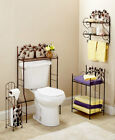 Bronze Country Bathroom Furniture Towel Stacker Wall Shelf Over The Toilet Shelf