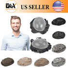 GEX Medium Density SKIN Mens HairPiece Toupee Wig Poly Base Replacement Systems