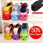 7 COLORS 50% Space-Saving Shoes Rack Organizer Plastic Adjustable Storage Tools