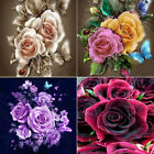US 5D Rose Butterfly Wall Diamond Embroidery Painting DIY Rhinestone Craft Gift