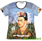 Frida Mexican Surrealism Self Portrait Arte Camiseta T Shirt Top FINE ART PRINT