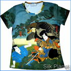 JAPANESE Samurai Eagle Hawk T SHIRT ASIAN ART PRINT PAINTING Ukiyo-e Woodblock