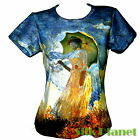 CLAUDE MONET Woman with Parasol IMPRESSIONISM PAINTING T SHIRT FINE ART PRINT