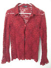 Amthropologie red see through blouse - size M