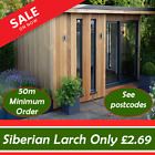 Siberian Larch Timber Cladding  Ex 25 x 150mm Grade A See Postcodes before order