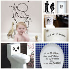 Fashion Bathroom Toilet Decoration Seat Art Wall Stickers Decal Home Decor Atau