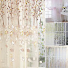 HK- Present-day Floral Window Valance Pastoralism Style Curtain Bedroom Home Decor Sh