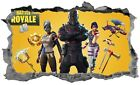 Fortnite Wall Sticker 3D Breakout Smashed Decal Home Wall Art Battle Royale