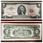 1953 Series Two Dollar Bill $2 Red Seal US Note