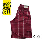 SHAKA MENS CASUAL CARGO SHORTS PLAID SHORTS LOOSE FIT CHECKERED HIP HOP SHORTS фото