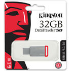 Kingston 128GB 64GB 32GB 16GB 8GB DT 50 Flash USB 3.0 3.1 Drive 110MB/s OTG Lot