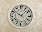 E166 White Rural Mute Plastic Glass Diameter 45cm Decoration Wall Clock A