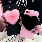 Lovely 3D Love Heart Cute hair Phone Case Cover For iphone X 6s 7 8 Plus 5 5S SE