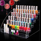 60 Bottles Acrylic Nail Polish Display Rack Stand Holder 6 Tier Makeup Organize