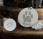 Paw Print Memorial Necklace Nose Print Personalized Engraved Sterling Silver