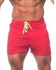 Mens Swim Fitted Shorts Bodybuilding Workout Gym Running Tight Lifting Shorts US фото