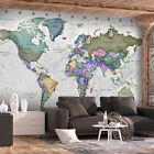 Huge wall mural world map photo wallpaper mural non-woven art print k-A-0380-a-a