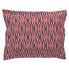 Mod Modern Wallpaper Retro Geometric Bold Pink Pillow Sham by Roostery