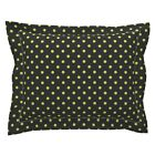 Tennis Black Yellow Stripes Dots Pillow Sham by Roostery