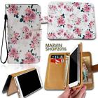 Leather Wallet Card Stand Flip Case Cover For Samsung Galaxy Phones + Strap