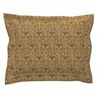 Tiger Wood Carving Cat Wild Cat Zoo Wildcat Pillow Sham by Roostery