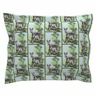Cattledog Dogs Trees Grass Blue Green Tree Pillow Sham by Roostery