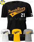 Pittsburgh Pirates Roberto Clemente Puerto Rico Tail Jersey Tee Shirt Men S-5XL
