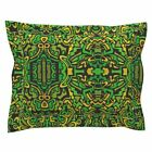 Urban Camouflage Greens Yellows Fashion Decor Crafts Pillow Sham by Roostery