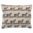 Hunters Hunting Dog Quail Birds Outdoors Dogs Grass Pillow Sham by Roostery