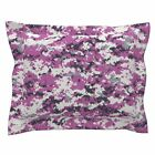 Pink Camo Digital Pillow Sham by Roostery