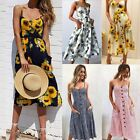 Women's Summer Boho Casual Long Maxi Evening Party Cocktail Beach Dress Sundress