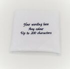 GIFT BOXED EMBROIDERED PERSONALISED HANDKERCHIEF WEDDING POEM MESSAGE FAVOUR