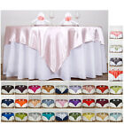 """Внешний вид - 60"""" SATIN Square Table Overlay For Wedding Catering Party Table Decorations"""