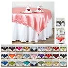 "Внешний вид - 72"" SATIN Square Table Overlay For Wedding Catering Party Table Decorations"