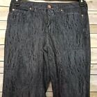 Noisy May Jeans Lucy NW Super Slim UK Size 27/32 Black Animal Print