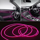 RGB LED EL Wire Neon Glow Car Interior Atmosphere Strip Light Decor Belt UK Stoc