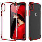 iPhone X 8 7 6s Plus Shockproof Plating Clear Slim Hybrid Bumper Case Cover New