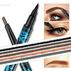 Dual-Ended 2 In 1 Rotating Automatic Eyebrow Pencil & Waterproof Eyeliner Pen BL