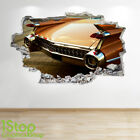 CLASSIC CAR WALL STICKER 3D LOOK - BOYS KIDS BEDROOM SUPERCAR WALL DECAL Z593