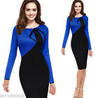 Women Celebrity Vintage Pinup Retro Bow Cocktail Party Evening Bodycon Fit Dress