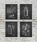 Farmhouse Art Decor set of 4 unframed Dairy Cow Milk Can Patents
