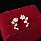 elegant Pearl Shell Flowers Resin Ear Stud Ear Hang Women Earring Ear ewelry