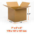 7x5x5 Inches Single Wall Brown Corrugated Cardboard Postal Mailing Boxes