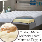 100% Memory Foam Mattress Topper All Sizes & Depths Hypoallergenic Orthopaedic