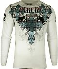 Xtreme Couture by AFFLICTION Men THERMAL T-Shirt CLASSIC CREST Biker MMA UFC $58 image